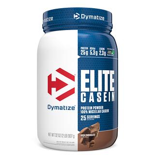 Dymatize Nutrition, Elite Casein, протеиновый порошок с насыщенным шоколадным вкусом, 907г (2фунта)