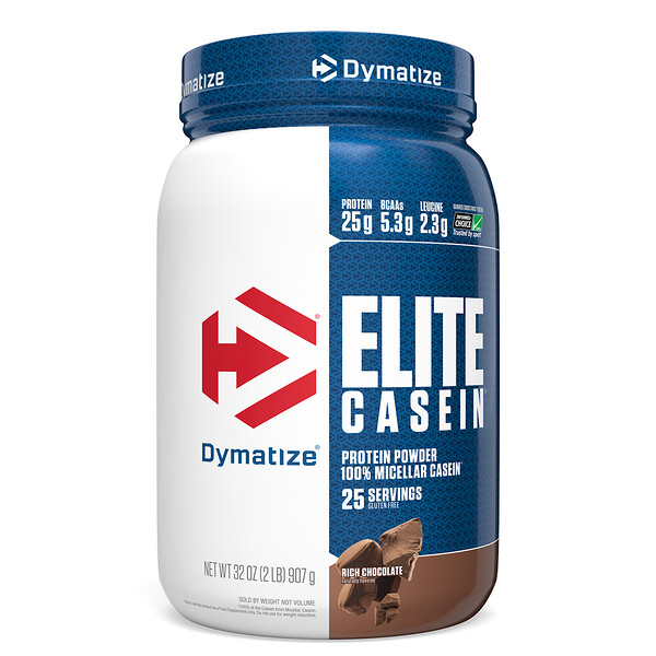 Elite Casein, Rich Chocolate, 2 lbs (907 g)