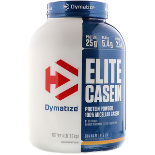 Dymatize Nutrition, Elite Casein, 100% Micellar Casein, Cinnamon Bun, 4 lb (1.8 kg)