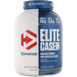 Dymatize Nutrition, エリート カゼイン、クッキー&クリーム、4 lbs (1.8 kg)