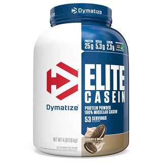 Dymatize Nutrition, Elite Casein, Cookies & Cream, 4 lbs (1.8 kg)