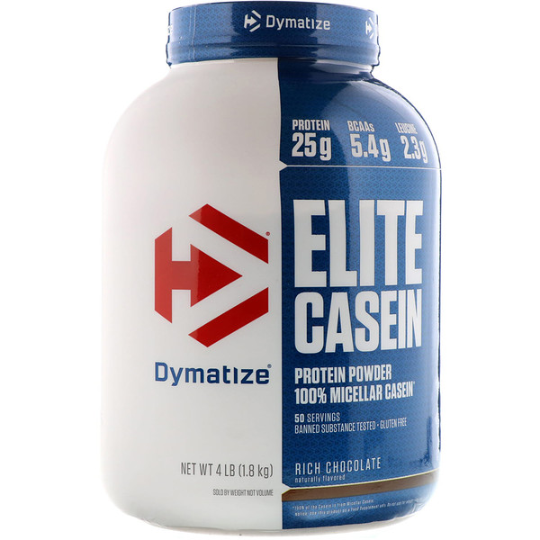 Dymatize Nutrition, Elite Casein, Rich Chocolate, 4 фунта (1836 г)
