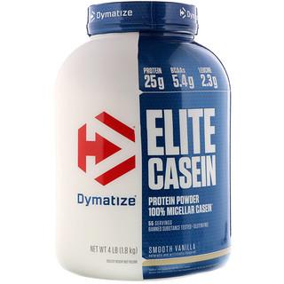 Dymatize Nutrition, Elite Casein, Smooth Vanilla, 4 lb (1.8 kg)