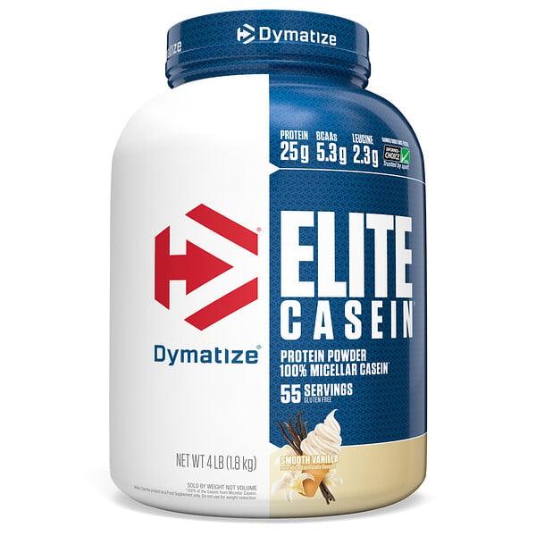 Elite Casein, Smooth Vanilla, 4 lb (1.8 kg)
