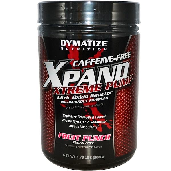 dymatize xpand xtreme pump caffeine free