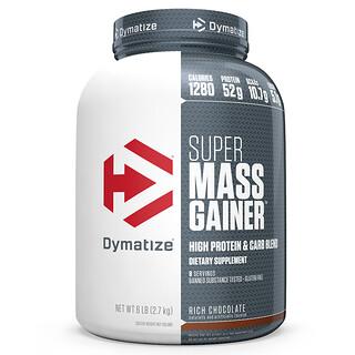 Dymatize Nutrition, Гейнер Super Mass, густой шоколад, 6 фунтов (2,7 кг)