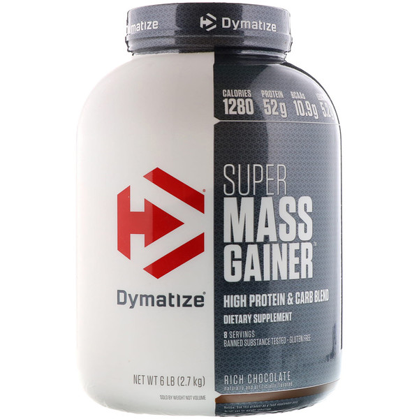 Dymatize Nutrition, Super Mass Gainer, 富含巧克力, 6 lbs (2、7 kg)