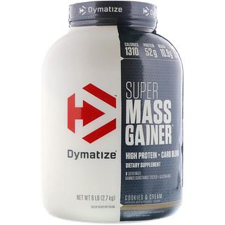 Dymatize Nutrition, Super Mass Gainer, كعك وكريمة, 6 باوند (2.7 كغ)
