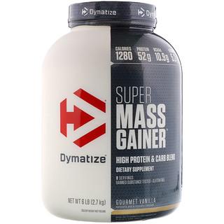 Dymatize Nutrition, Super Mass Gainer, Gourmet Vanilla, 6 lbs (2.7 kg)
