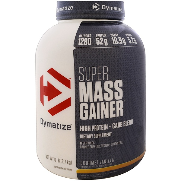 :Dymatize Nutrition, Super Mass Gainer,美味香草,6磅(2、7千克)