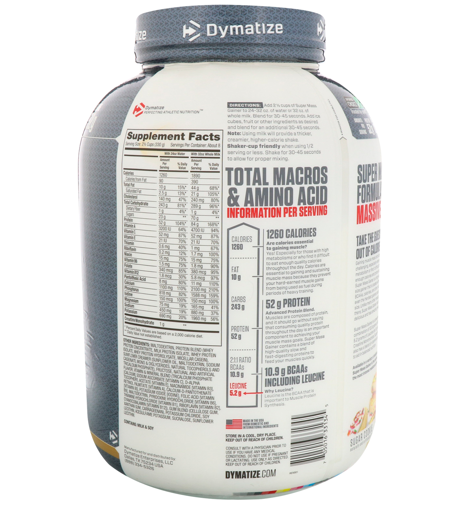 Dymatize Nutrition Super Mass Gainer Sugar Cookie 6 Lbs 27 Kg Supermass 12lbsb Discontinued Item By
