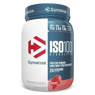Dymatize Nutrition, ISO100, гидролизованный 100% изолят сывороточного протеина, клубника, 725г (1,6фунта)
