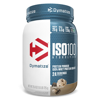 Dymatize Nutrition, ISO100 Hydrolyzed, 100% Whey Protein Isolate, Cookies & Cream, 1.6 lbs (725 g)