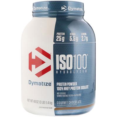 Купить ISO 100, гидролизованный 100%-ный изолят сывороточного белка, шоколад гурмэ, 48 унц. (1, 4 кг)