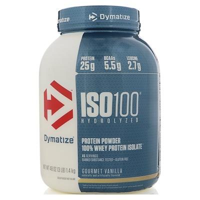Купить ISO100 Hydrolyzed, 100 % изолят сывороточного белка, со вкусом ванили для гурманов, 1, 4 кг (3 фунта)