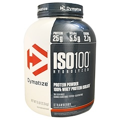 Dymatize Nutrition, ISO100 Hydrolyzed, 100% Whey Protein Isolate, Strawberry, 5 lbs (2.3 kg)