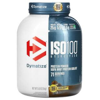 Dymatize Nutrition, ISO100 Hydrolyzed, 100% Whey Protein Isolate, Gourmet Chocolate, 5 lb (2.3 kg)