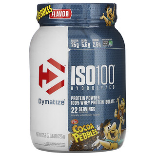Dymatize Nutrition, ISO100 Hydrolyzed, 100% Whey Protein Isolate, Cocoa Pebbles, 1.6 lb (725 g)
