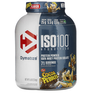 Dymatize Nutrition, ISO100 Hydrolyzed, 100% Whey Protein Isolate, Cocoa Pebbles, 5 lb (2.3 kg)