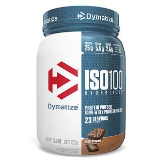 Dymatize Nutrition, ISO100 Hydrolyzed, 100% Whey Protein Isolate, Fudge Brownie, 1.6 lbs (725 g)