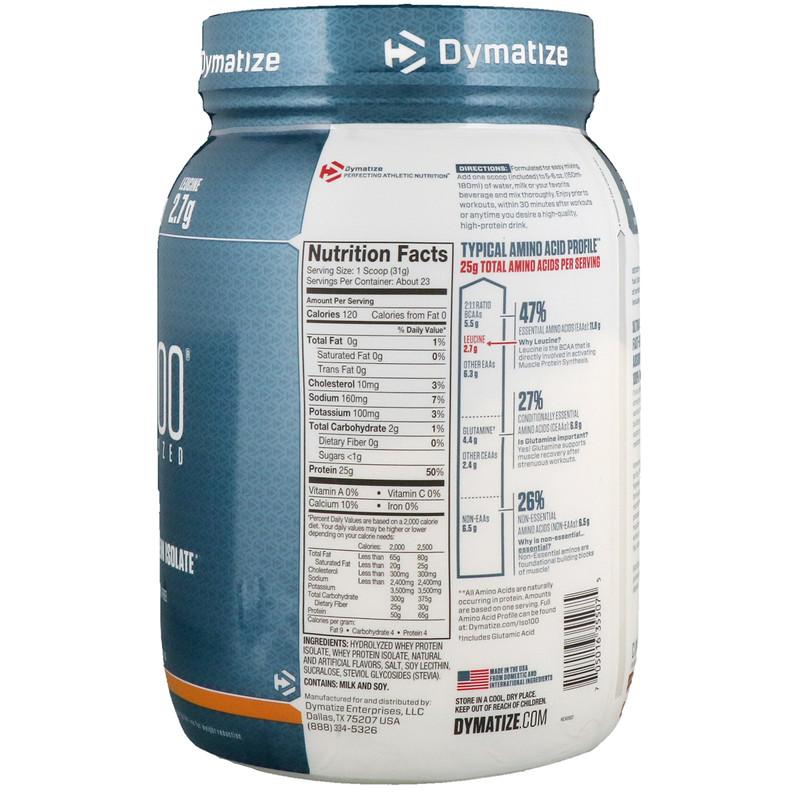 Dymatize Nutrition, ISO100 Hydrolyzed, 100% Whey Protein Isolate, Cinnamon Bun, 1.6 lbs (725 g) - photo 1