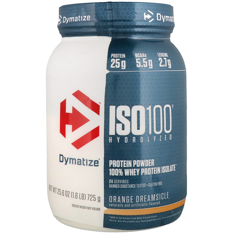 ISO100 Hydrolyzed, 100% Whey Protein Isolate, Orange Dreamsicle, 1.6 lbs (725 g)