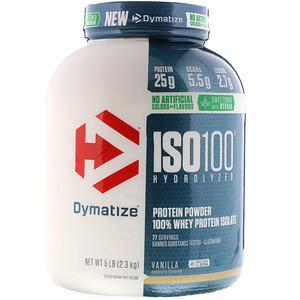 Диматайз Нутришн, ISO100 Hydrolyzed, 100% Whey Protein Isolate, Natural Vanilla, 5 lbs (2.3 kg) отзывы покупателей