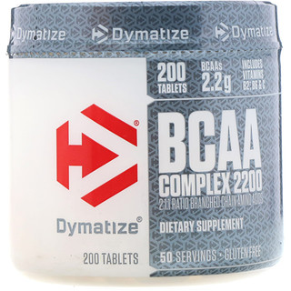 Dymatize Nutrition, BCAA Complex 2200, Branched Chain Amino Acids, 200 Caplets