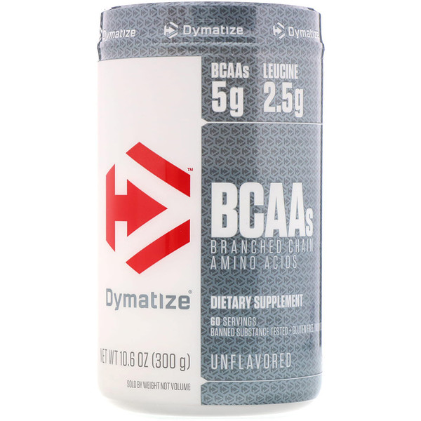 Dymatize Nutrition, BCAAs, Branched Chain Amino Acids, Unflavored, 10.6 oz (300 g)