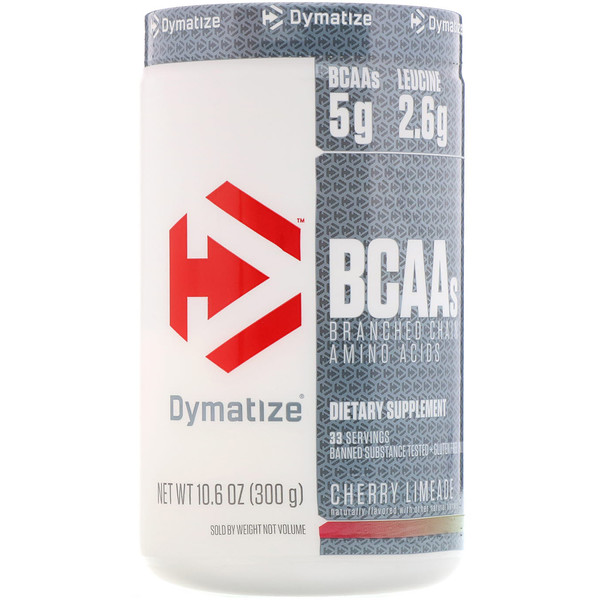 Dymatize Nutrition, BCAA, Branched Chain Amino Acids, Cherry Limeade, 10.6 oz (300 g) (Discontinued Item)