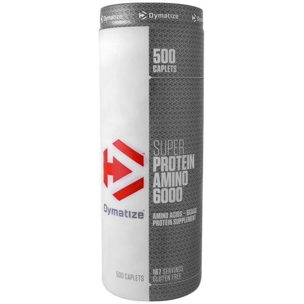 Dymatize Nutrition, スーパープロテインアミノ6000、500カプレット