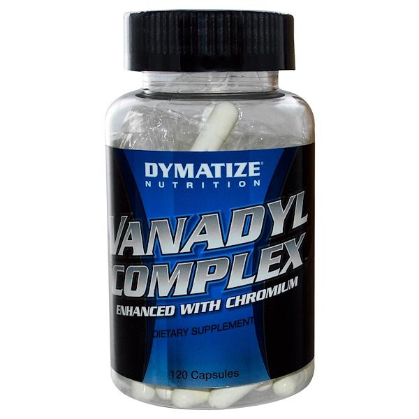 Dymatize Nutrition, Vanadyl Complex, 120 Capsules (Discontinued Item)