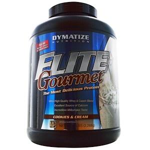 Диматайз Нутришн, Elite Gourmet Protein Powder, Cookies and Cream, 5 lbs (2,267 g) отзывы покупателей