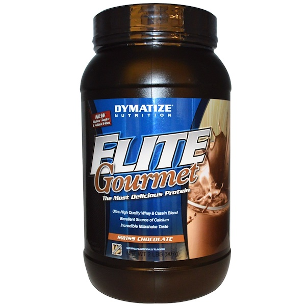 Dymatize Nutrition, Elite Gourmet Protein, Swiss Chocolate, 2 lbs (907 g) (Discontinued Item)