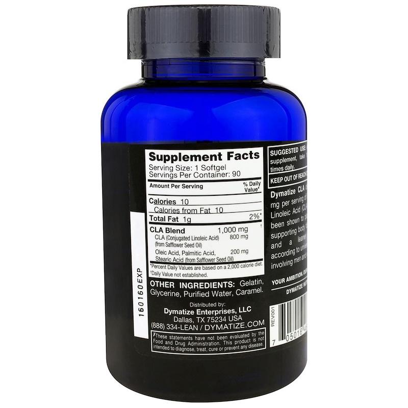 Dymatize Nutrition, CLA, Conjugated Linoleic Acid, 90 Softgel Capsules - photo 1