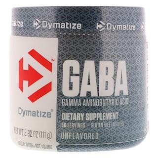 Dymatize Nutrition, GABA, Gamma Aminobutyric Acid, Unflavored, 3.92 oz (111 g)