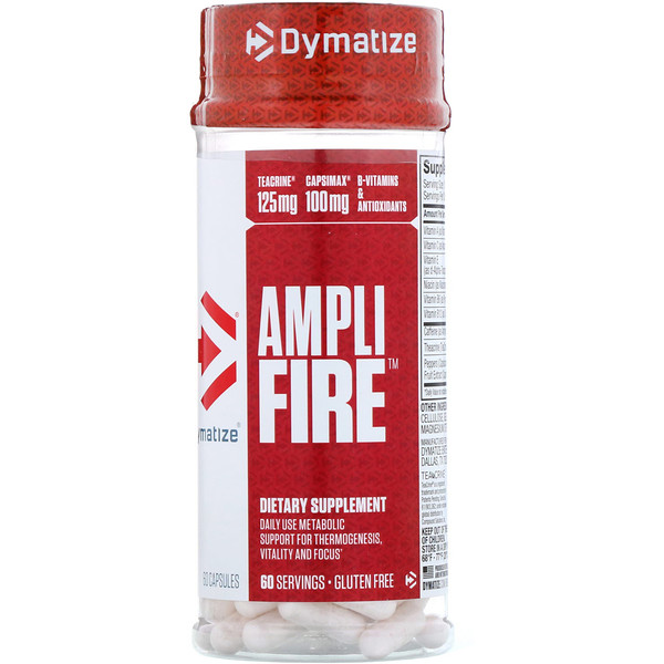Dymatize Nutrition, Ampli-Fire, 60 Capsules (Discontinued Item)