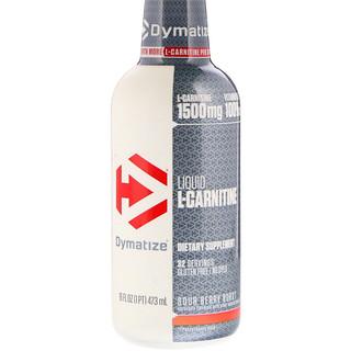 Dymatize Nutrition, 液体Lカルニチン、サワーベリーバースト、1500mg、16 fl oz (473 ml)