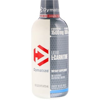 Dymatize Nutrition, Liquid L-Carnitine, Juicy Blue Razz, 1500 mg, 16 fl oz (473 ml)