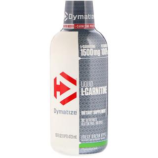 Dymatize Nutrition, Liquid L-Carnitine, Jolly Green Apple, 1500 mg, 16 fl oz (473 ml)
