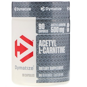 Диматайз Нутришн, Acetyl L-Carnitine, 500 mg, 90 Capsules отзывы