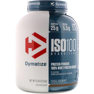 Dymatize Nutrition, ISO-100 Hydrolyzed, 100% Whey Protein Isolate, Fudge Brownie, 5 lbs (2.3 kg)