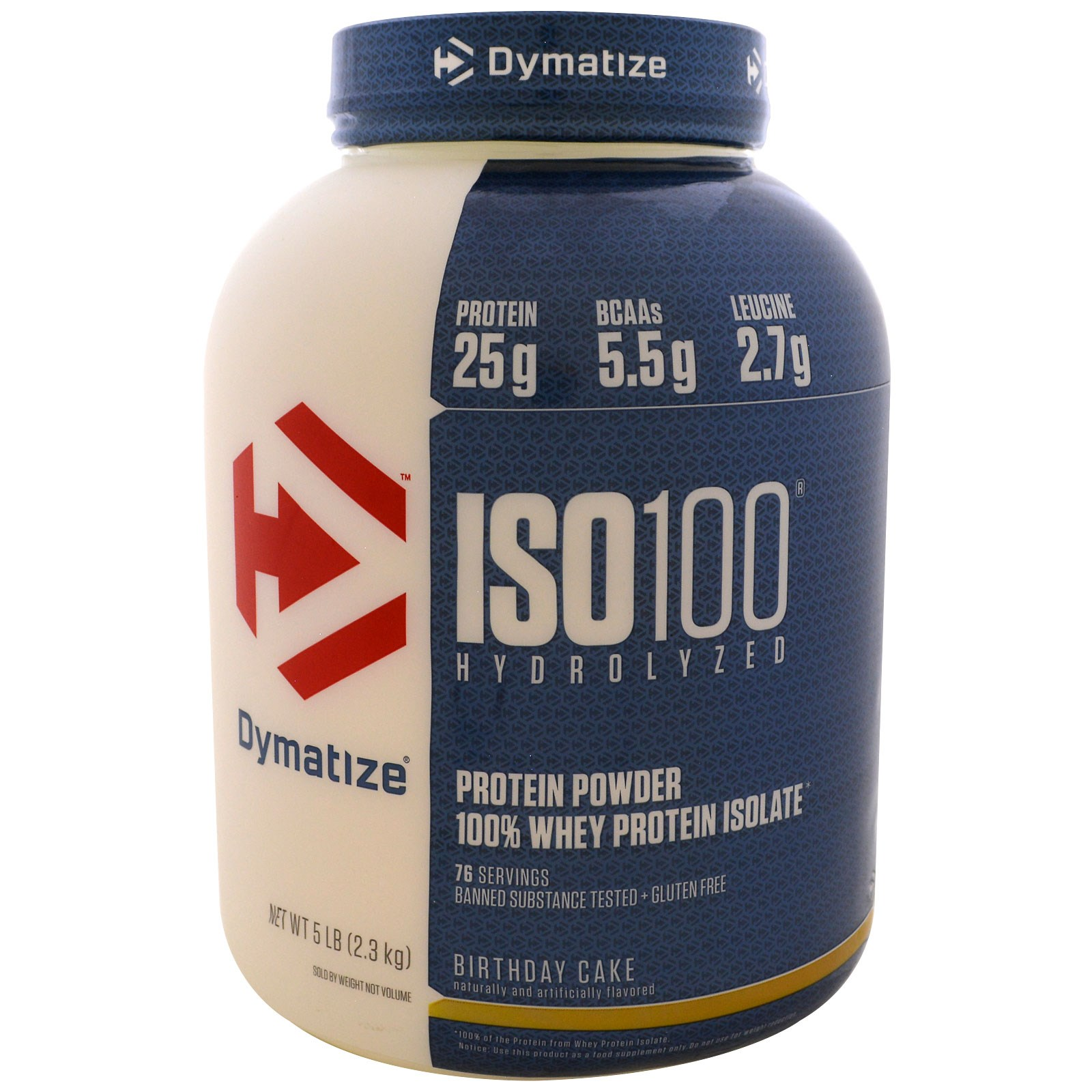 Dymatize Nutrition ISO 100 Hydrolysiertes Molkeproteinisolat Geburtstagskuchen 23 Kg