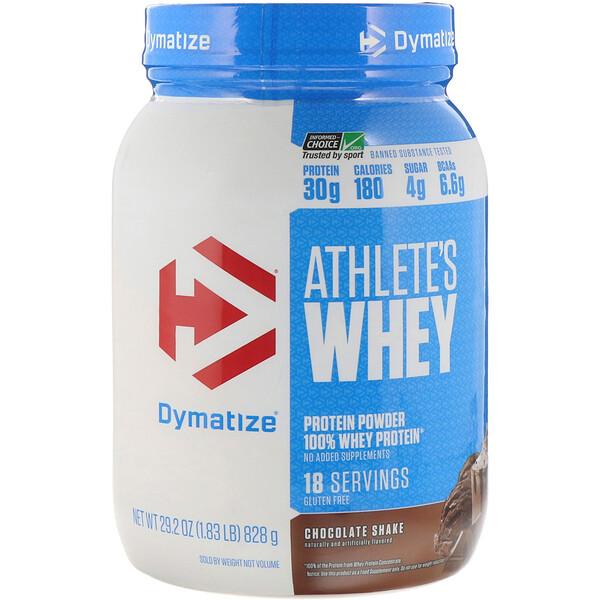 Dymatize Nutrition, Suero para atletas, Batido de chocolate, 828g (1,83lb)