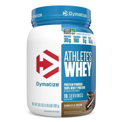 Dymatize Nutrition Athletes Whey, молочная сыворотка, печенье с кремом, 792г