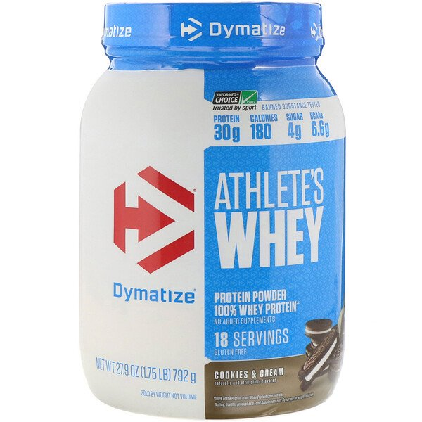 Dymatize Nutrition, Athlete's Whey, Cookies & Cream, 1.75 lb (792 g)