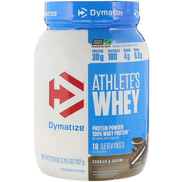 Athlete's Whey, Cookies & Cream, 1.75 lb (792 g)