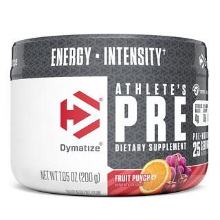 Dymatize Nutrition, Athlete's Pre, Pre-Workout, Fruit Punch, 7.05 oz (200 g)