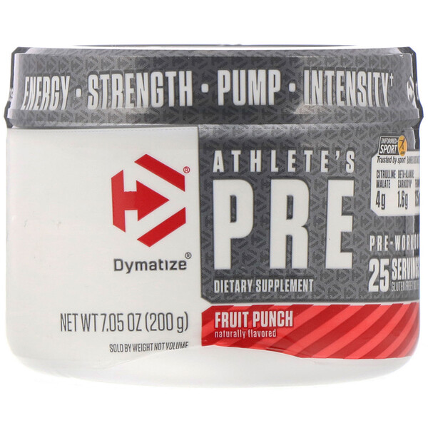 Athlete's Pre, Pre-Workout, Fruit Punch, 7.05 oz (200 g)