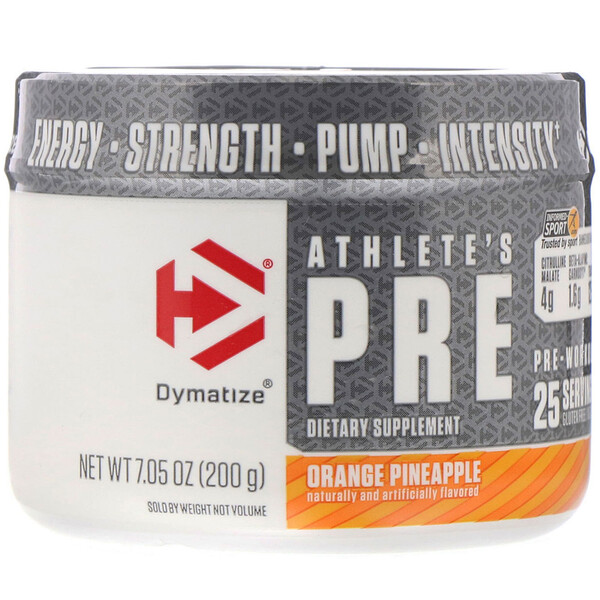 Athlete's Pre, Pre-Workout, Orange Pineapple, 7.05 oz (200 g)